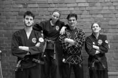 Linus, Jessy, Marcel und Sebastian