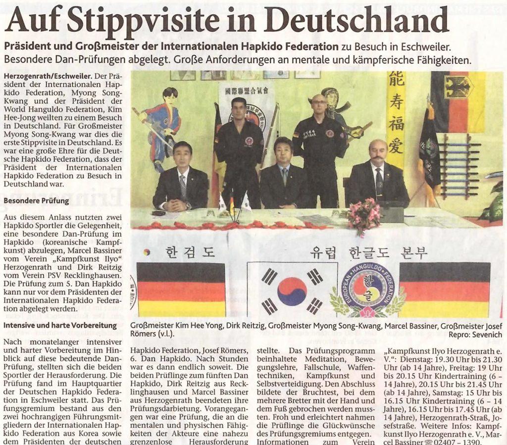 Auf Stippvisite in Deutschland