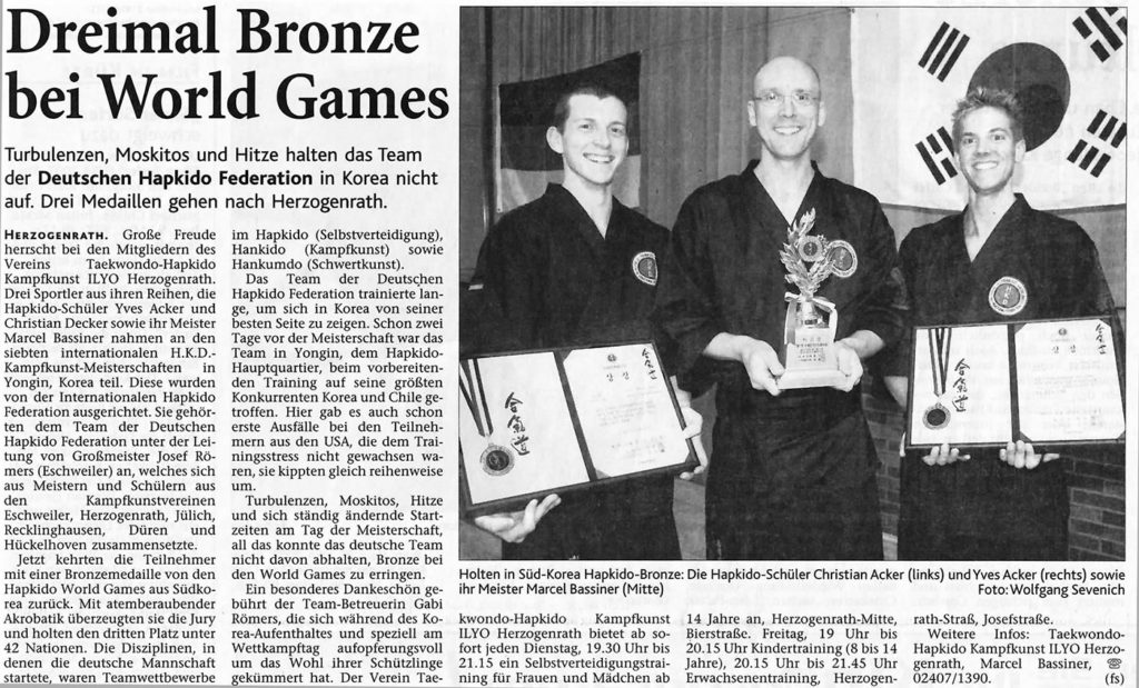 Dreimal Bronze