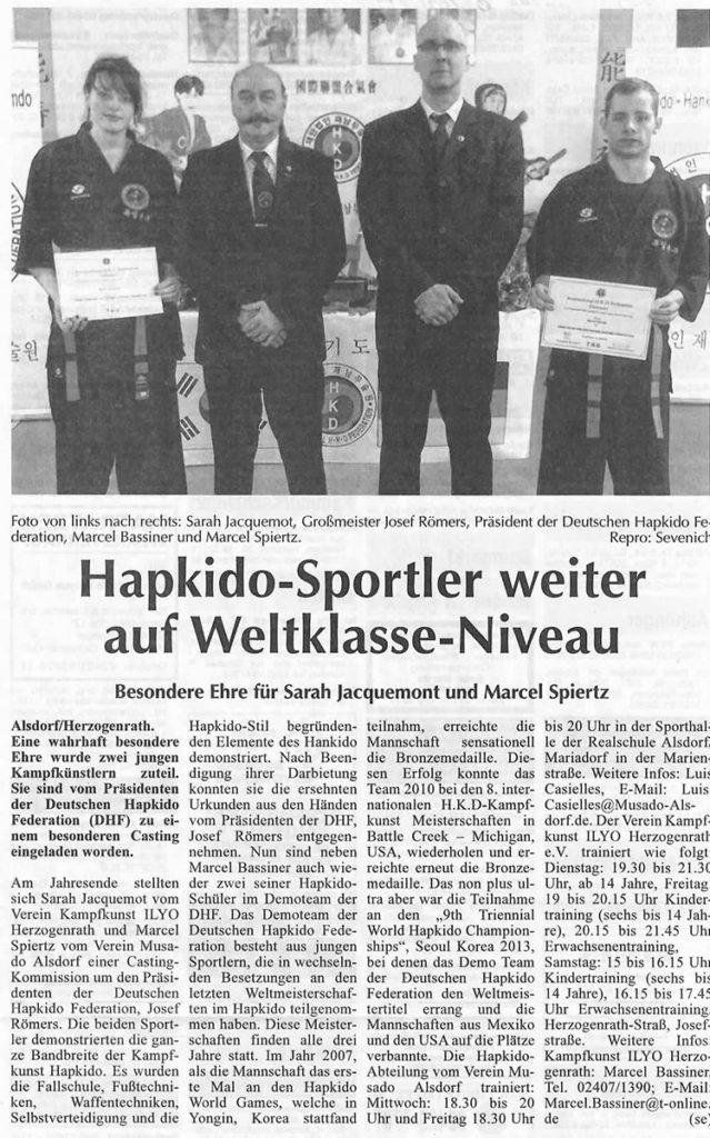 Hapkido-Sportler weiter auf Weltklasse-Niveau