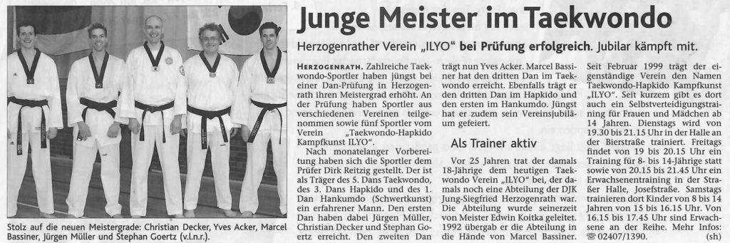 Junge Meister im Taekwondo