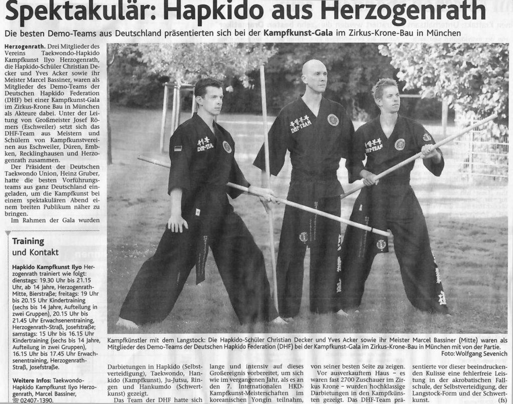Spektakulär: Hapkido aus Herzogenrath